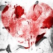 Red Heart symbol painted on painted on grunge wall — Stock Photo #23466718