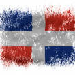 The Dominican Republic flag - Stock Photo