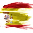 The Spanish flag - Stock Photo
