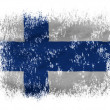 The Finnish flag - Stock Photo