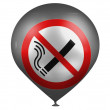 No smoking sign drawn on a baloon — Stock Photo