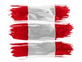 The Peru flag — Stock Photo