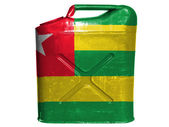 Togo flag painted on gasoline can or gas canister — Stock Photo