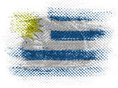 Uruguay flag on dotted surface — Stock Photo