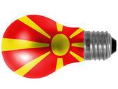 Macedonia flag painted on lightbulb — Stock Photo