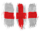 England. English flag painted with 3 vertical brush strokes on white background — Stock Photo