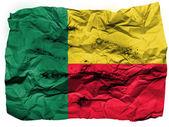 Benin. Benini flag painted on crumpled paper — Stock Photo