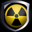 Nuclear radiation symbol painted on — Stock Photo #23478022
