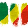 The Congo flag - Stock Photo