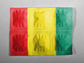 Flaga gwinei — Zdjęcie stockowe