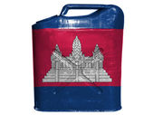 Cambodia flag painted on gasoline can or gas canister — Stock Photo