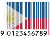 Philippine flag painted on barcode surface — Stock Photo