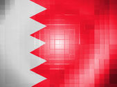 Bahrain. Bahraini flag on wavy plastic surface — Stock Photo