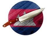 Cambodia flag — Stock Photo