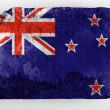 The New Zealand flag - Stock Photo