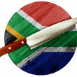 South African flag — Stockfoto
