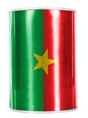 Burkina Faso flag painted on shiny tin can — Stock Photo