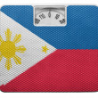 Stock Photo: Philippine flag painted on balance