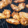 Buffalo wings cooked on grill - Stockfoto