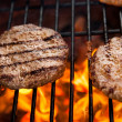 Stock Photo: Beef cutlet on grill