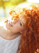 Redheaded young woman — Stock Photo
