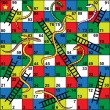 Постер, плакат: Snakes and Ladders Board Game