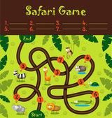 Safari game — Stock Vector