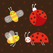 Ladybug, Ladybird, — Stockvektor