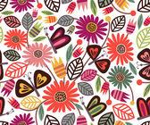 无缝花纹可爱的蝴蝶,在明亮的背景上 — 图库矢量图片