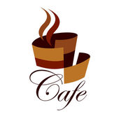 Cafe sign — Stock Vector