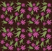 Floral vintage seamless pattern on Dark Background — Stock vektor
