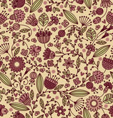 Floral vintage seamless pattern on Light Background — Stock Vector