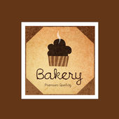 Bakery label and logo — Stock Vector