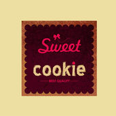 Sweet shop label and logo — Stock Vector