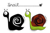 Cartoon Snail — Stock Vector