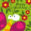 Birthday card with  cute butterfly — Stock Vector #41949445