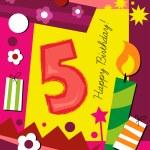 Birthday card — Stock Vector #41949549