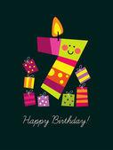 Seventh birthday — Stock Vector