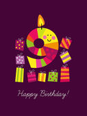 Ninth birthday — Stock Vector