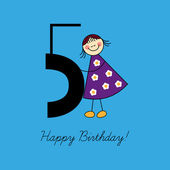 Fifth birthday — Stock Vector