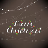 Merry Christmas lettering — Stock Vector