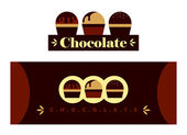 Chocolate sign — Stock Vector