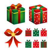 Collection of gifts — Stock Vector