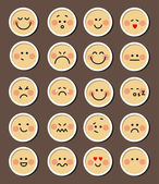 Set of 20 faces — Stock Vector