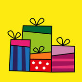 Funny gift collection — Stock Vector