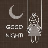 Good night card — Cтоковый вектор