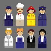 Set of people occupations icons — Stock Vector