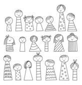手工绘制的卡通人物 — 图库矢量图片