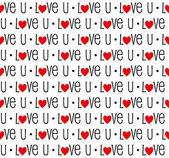 Seamless love pattern — Vector de stock