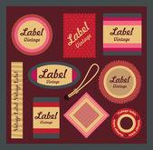 Vintage Label Set. — Stock Vector